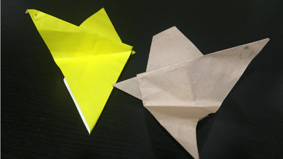 Origami Birds Made by Noah