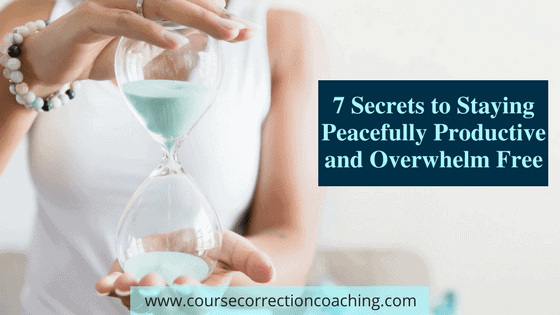 7 Secrets to be Peacefully Productive Title Image