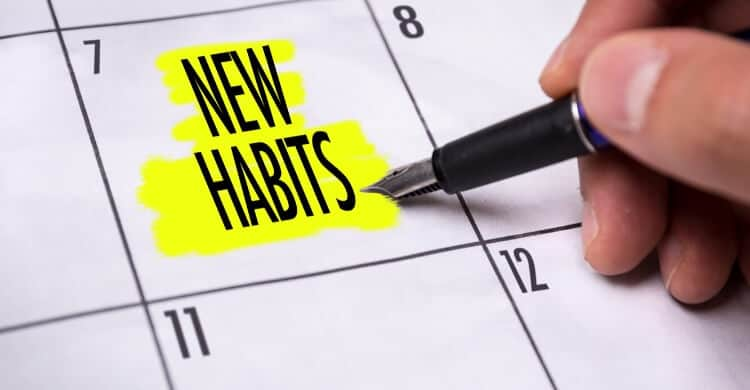 Picture of calendar about developing new habits
