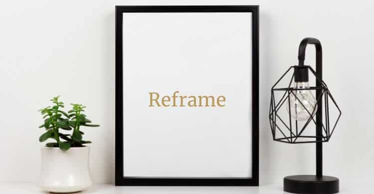 Picture of frame on desktop