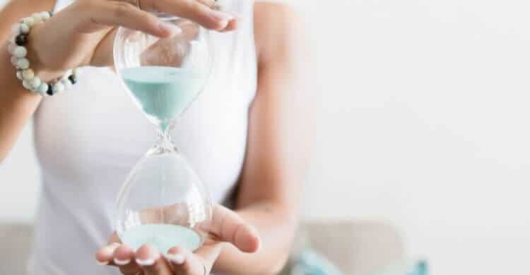 self-care isn't like this hourglass losing sand by the minute