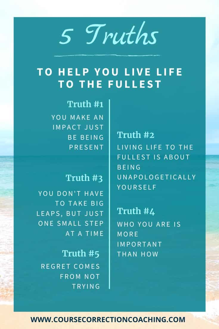 Pinterest Image with tips on how to live life to the fullest