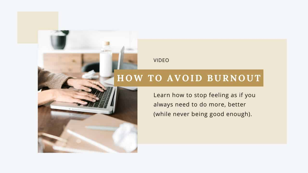 Image for Video About How to Avoid Burnout as an Overachiever